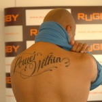 Tatouage dans le dos Jonah Lomu ex- All Blacks