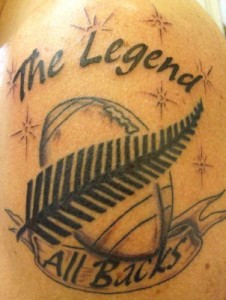 Tatouage d'un fan des All Blacks