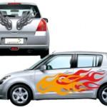 tatouage pour voiture : sticker tuning de flammes