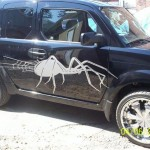tatouage pour voiture : sticker araignée