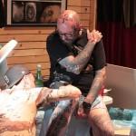 Finitions sur un tatoué bien avancé