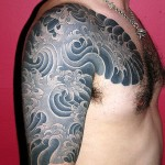 Photo de tatouage manchette japonaise