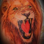 tatouage de lion