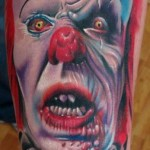 Tatouage morbide de clown