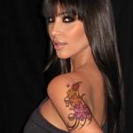 faux tatouage de kim kardashian