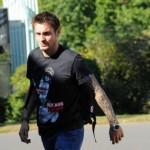 mathieu debuchy et son tattoo à clairefontaine avec les bleus