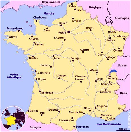 Carte De La France Avec Ses Villes | popkensburg