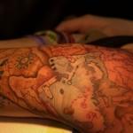 tatouage de carte au tresor