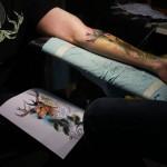 tatouage de cerf avec modele par Cédric Gyger de KZN tattoo, Besançon