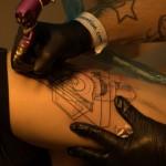 tatouage en cours