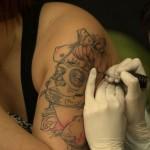 tatouage de madonne style mexicain