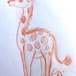 dessin girafe by scott verdhoen