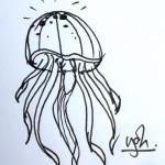 dessin meduse by bbr