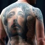 tatouage jesus dos integral
