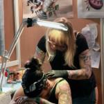 tatouage nuque en cours