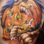 tatouage citrouille halloween