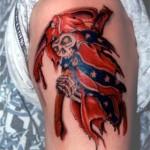 tatouage halloween squelette