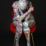 Isobel Varley, longtemps considérée comme la femme la plus tatouée du monde