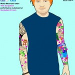 La carte des tattoos d'Ed Sheeran sur MTV