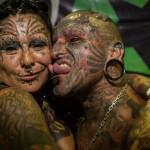 Couple très tatoué