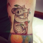 Tatouage Ed Sheeran koala