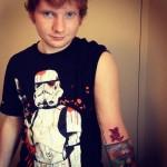 Tatouage Ed Sheeran signe chinois