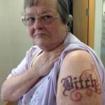 tatouage insolite biatch