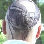 tatouage insolite de crane en 3D