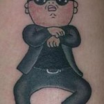 tatouage insolite de gangnam style de psy