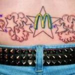 tatouage insolite Mc Do