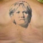 tatouage insolite de Nadine Morano