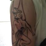 Tatouage raté de démon