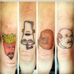Tatouage raté de fast food