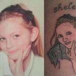 Tatouage raté portrait d'enfant