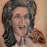 Tatouage raté portrait de Céline Dion