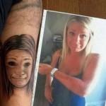 Tatouage raté portrait de copine