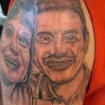 Tatouage raté portrait de couple
