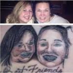 Tatouage raté portrait d'enfants