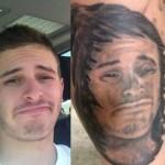 Tatouage raté portrait homme