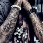 tatouages wiz khalifa sur les bras