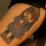 Tatouage alizée : sa fille Annily Chatelain en dessin manga