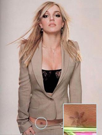 Tatouage Britney Spears hanche, nuque, bas du dos, les tattoos de Britney Spears   TATTOO ...