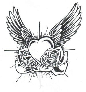 Tatouage Coeur Old School Modele De Tatouage De Coeur Tattoos De Coeurs Tattoo Tatouages Com