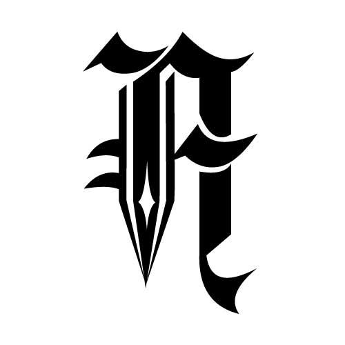 tatouage criture gothique mod le tatouage lettres. Black Bedroom Furniture Sets. Home Design Ideas