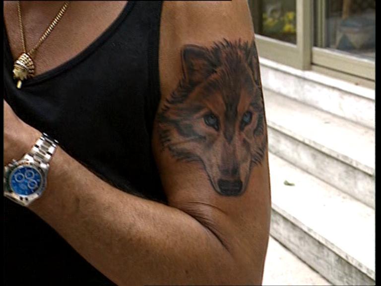 tatouage johnny hallyday tatouage de loup aigle poignard old school lettres chinoises les. Black Bedroom Furniture Sets. Home Design Ideas