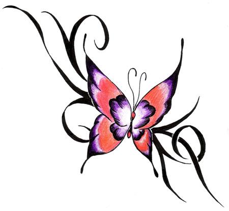 tatouage papillon mod le de tatouage et signification symbolique du papillon tattoo. Black Bedroom Furniture Sets. Home Design Ideas