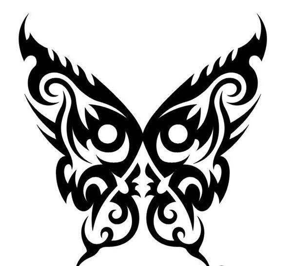 Tatouage papillon mod le de tatouage et signification - Tribal papillon ...
