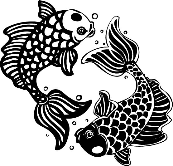 Tatouage poisson signe astrologique des poissons signification et mod les de tatouage de - Modele poisson ...