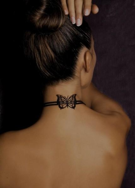 tatouage cou : modèles de tattoos sur le cou pour femme et homme