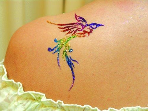 tatouage temporaire paillettes tattoo ph m re en strass. Black Bedroom Furniture Sets. Home Design Ideas